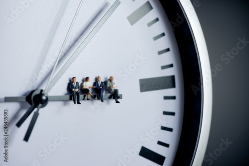 Fotografia Project management, team work and time management concept