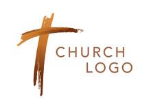 Christian Cross Church Logo. C...