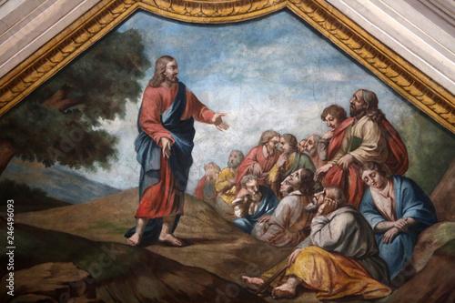 Obraz na plátně Le sermon de Jésus-Christ sur la montagne