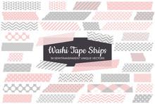 Blush Pink And Gray Washi Tape...