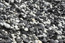 Round Cut Lava Stones On The Beach, Southwest Coast, Island Of Sao Miguel, Azores, Portugal, Europe