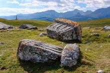 Medieval Tombstones, Stecci, Necropolis Of The Bogumiles, Near Zabljak, Zabljak Province, Montenegro, Europe