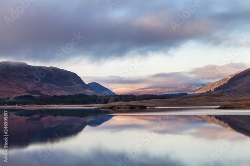 Aluminium Prints River Spey, landscape in Scotland near Laggan