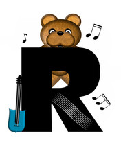 Alphabet Teddy Guitar Music R