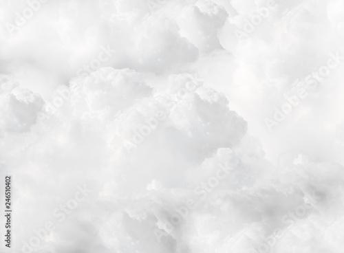 Fototapeta white fluffy cumulus clouds full flame  obraz