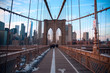The Brooklyn Bridge over the river
