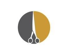 Scissor Icon Logo Vector Illus...