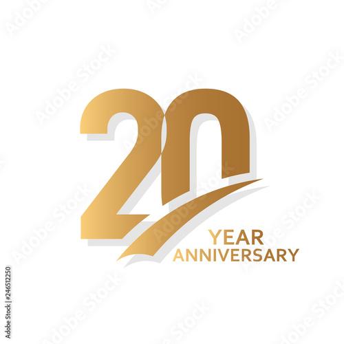 20 Year Anniversary Vector Template Design Illustration Fotomurales