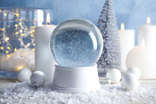 Magical Empty Snow Globe With ...