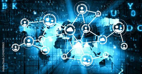 Fototapeta Concept of global networking obraz na płótnie