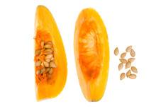 Orange Pumpkin Slices, Seeds, ...