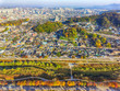 Aerial View of Jeonju Hanok Village Traditional Korean Town, Jeonju, Jeollabukdo, South Korea