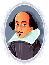 William Shakespeare Vector Caricature