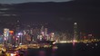 Night view of the beautiful Victoria Harbor