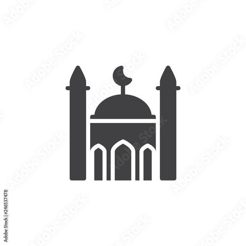 Fotografia Islamic mosque vector icon