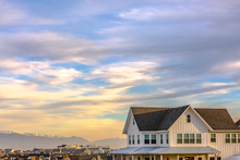 Beautiful Sky Over Scenic Daybreak Utah Community