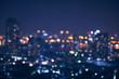 Leinwanddruck Bild - abstract night light of cityscape bokeh