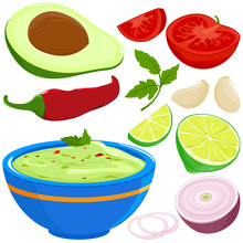 Ingredients For Guacamole And ...