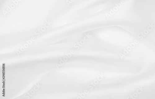 Valokuva  Smooth elegant white silk or satin luxury cloth texture as wedding background