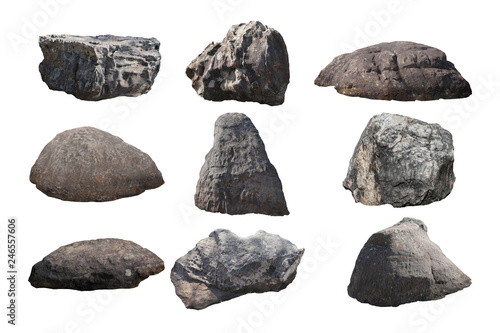 Photo  rock isolated on white background.