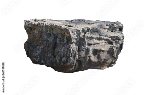 rock isolated on white background. - 246557848