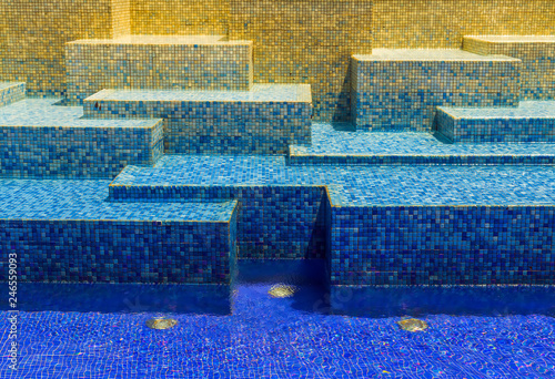 Texture blue cool mosaic tile background