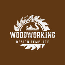 Woodworking Logo Icon Design Template Vector