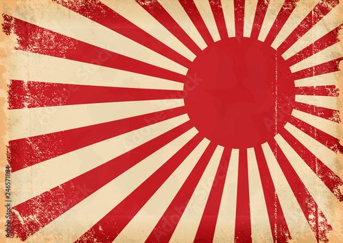 Fotografie, Obraz  Grunge vector japan flag