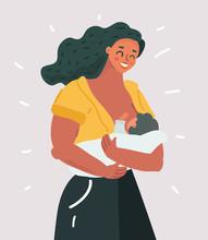 Beautiful Mother Breastfeeding...