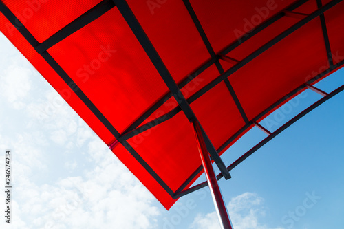 Roof Polycarbonate Building Construction Plastic Background Modern Light Transparent Roofing Metal Shed Design Sky Architecture Decoration Frame Red Buy This Stock Photo And Explore Similar Images At Adobe Stock Adobe Stock