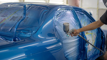 Spray Gun With Paint For Paint...