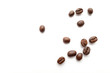 Leinwanddruck Bild - Coffee beans isolated on white background. Close-up.
