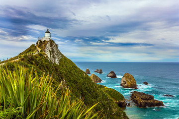 Fototapeta Morze New Zealand. Nugget Point Lighthouse