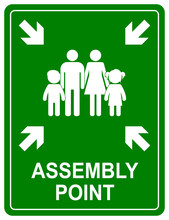 Assembly Point Sign. Meeting P...