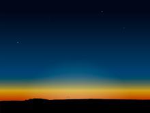 Evening Dark Blue Sky After Sunset. Vector Illustration.