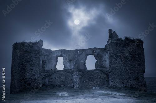 Canvastavla European old ruins