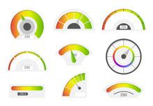 Speedometer Icons. Credit Scor...