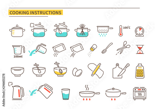 Photographie cooking instruction