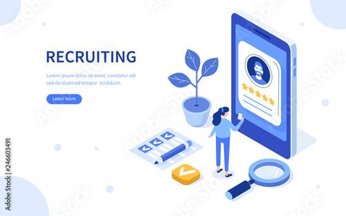 Fotomural recruiting concept