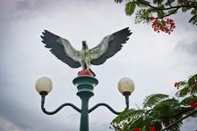 Sculpture Of An Eagle On A Lan...