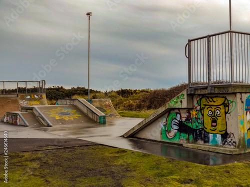 donald trumps skate park Canvas Print