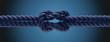 Knoten im Seil als Partnerschaft Konzept