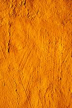 Rustic Orange Plastered Wall
