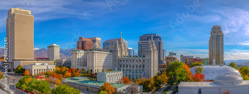 The historic Temple Square in Salt Lake City Utah Canvas