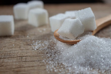Sugar On Wooden Spoon,for Healthy Care Article.
