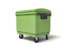3d Rendering Of Green Trash Bi...