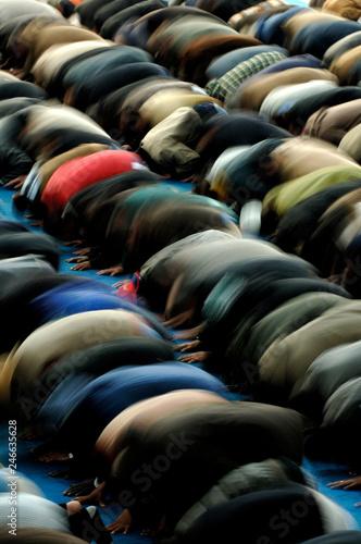 Fotografia, Obraz  Preghiera musulmani