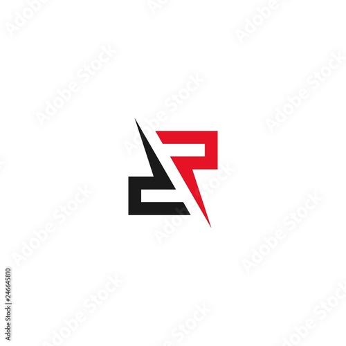 Fotomural Letter dp dr graphic logo template. business logo design.