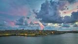 Fototapeta Na sufit - zachód słońca morze wyspa niebo