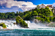 A magnificent view of Switzerland's famous Rheinfall